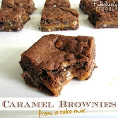 Sinful Caramel Brownies...A Christmas goody to fix for one of the teacher food days!