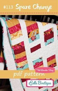 Spare Change Downloadable PDF Quilt PatternLella Boutique