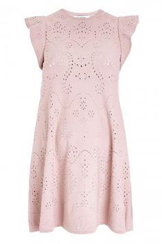 Valentino Ruffle Sleeve A-Line Dress