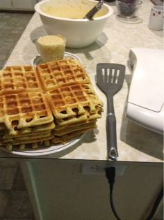 Small Town Living: Gluten free, low carb waffles