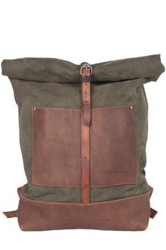 rolled-up backpack