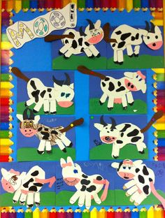 Farm theme craft.  Could do with colours with blue cow stories