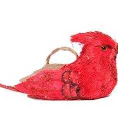 Blooming Holiday Natural Sitting Cardinal