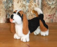 Adorable Needle Felted Basset Hound by KathysCraftShop on Etsy