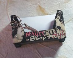Vintage Hair/Business Card Holder/Hair Styles by TheBohemianGypsy