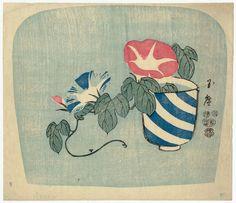 Morning Glories  1853 (Kaei 6), 1st month  Publisher Masudaya Ginjirô, Japanese Japanese