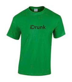 iDrunk Parody Shirt on the iPhone Logo by 25millingrd. Explore more products on http://25millingrd.etsy.com