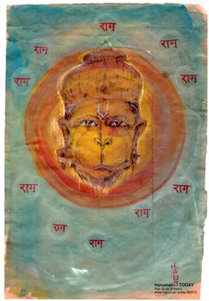 Monday, March 16, 2015  Daily drawings of Hanuman / Hanuman TODAY / Connecting with Hanuman through art / Artwork by Petr Budil [Pritam] www.hanuman.today