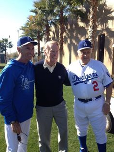 Dodger Legends & Hall of Famers - Sandy Koufax, Vin Scully and Tommy Lasorda Let's Go Dodgers, Dodgers Nation, Dodgers Girl, Dodgers Baseball, Baseball Players, Baseball Field, Baseball Teams, Baseball Uniforms, Sports Teams
