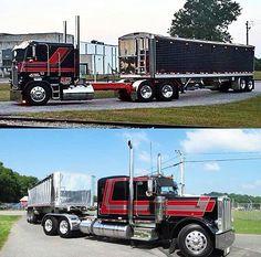 Coe Freightliner custom and a Peterbilt custom 359 Rv Truck, Train Truck, Pickup Trucks, Dump Truck, Lifted Trucks, Show Trucks, Big Rig Trucks, Old Trucks, Custom Big Rigs