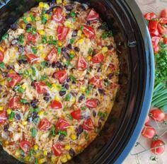 crock pot burrito bowls - a clean eating recipe