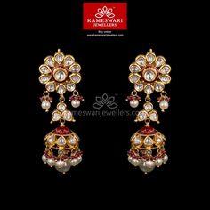 Chakrika Diamond Polki Jhumkis ship across and Call/Whatsapp us on Diamond Earrings Indian, Indian Jewelry Earrings, Buy Earrings, India Jewelry, Diamond Jewelry, Gold Jewelry, Earrings Online, Pearl Necklaces, Jewellery