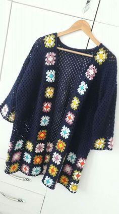 Transcendent Crochet a Solid Granny Square Ideas. Inconceivable Crochet a Solid Granny Square Ideas. Crochet Waistcoat, Gilet Crochet, Crochet Coat, Crochet Cardigan Pattern, Crochet Jacket, Crochet Blouse, Cotton Crochet, Love Crochet, Crochet Shawl