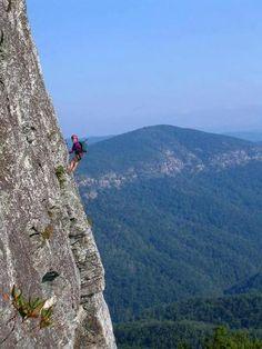 Western North Carolina rock and mountain climbing