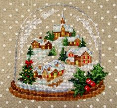 Christmas snowglobe cross stitch - this is so gorgeous!
