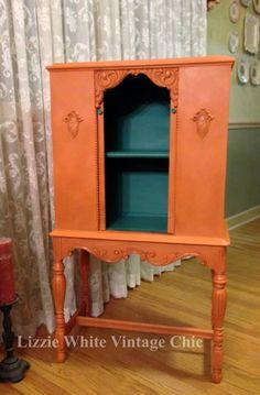 1940's Radio Cabinet Annie Sloan Barcelona Orange!