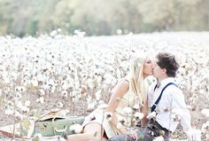 Cotton fields make a great backdrop for photos