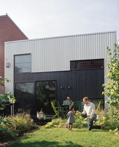 This Earth Day, make lasting changes to your home, wardrobe, and everyday life that are kind to the planet. 5 Terms in Sustainable Design You Should Know Embodied energy, gray Building Green Homes, Building A House, Residential Architecture, Architecture Design, Home Office Design, House Design, Metal Siding, Metal Cladding, Sustainable Design