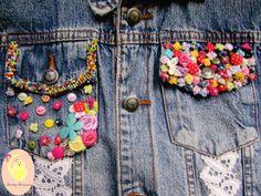 Bricolage Artesanatos e Variedades: Customização - Jaqueta Jeans