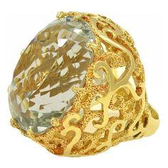 1950 Blue Topaz Ring #topaz#midcentury #ring #luxury #vintagejewelry #vintage #mothersday #gold #retro #postretro