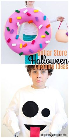 This time of year Dollar Stores are swamped with Halloween themed items. Shop these very affordable items to put together awesome costumes at a fraction of what they would cost elsewhere. Here's my list of top ten DIY Halloween costumes. Diy Halloween Home Decor, Halloween Decorations For Kids, Diy Halloween Costumes For Kids, Dollar Store Halloween, Halloween Zombie, Halloween Makeup, Awesome Costumes, Costume Ideas, Diy Holiday Gifts