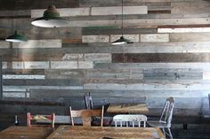 Cladding, recycled timber interior