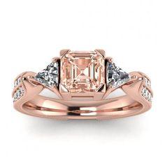 #14k #Rose #Gold #Kalina #Vintage #Pave #Asscher #Cut #Morganite #And | Etsy #14k #morganite #ring #rose #gold #engagement #wedding #ring #engagement #ring #rose #gold #morganite #morganite #ring #morganite #engagement #Milgrain #Band #Unique #Art #Deco #Band #Tapered #Band #Double #Pave #Milgrain #Trillion #Cut #Accents Trillion Engagement Ring, Rose Gold Engagement Ring, Morganite Engagement, Wedding Ring, Meteorite Ring, Asscher Cut, Morganite Ring, 18k Rose Gold, Diamond Shapes