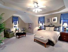 Spacious master suites