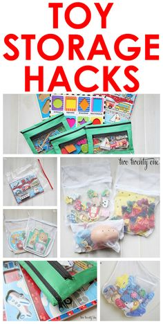 Great toy storage hacks!