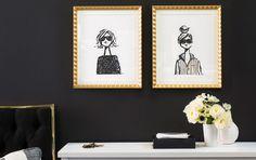 Art Prints teen girls room idea