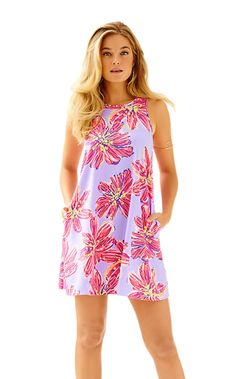 16bd9809e2fb4 Lilly Pulitzer Molly Haynes Trapeze Dress Color  Dahlia Purple Party Girl  Size  XS Price