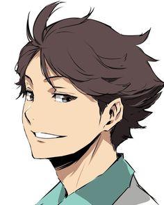 Here Oikawa Tooru, nice to meet you! Manga Haikyuu, Manga Anime, Me Anime, Haikyuu Fanart, Oikawa Tooru, Iwaoi, Nishinoya, Kageyama, Kenma