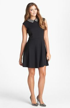 Betsey Johnson Embellished Jacquard Fit & Flare Dress available at #Nordstrom