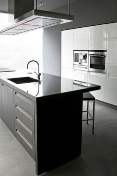 Modern Two-Tone Kitchen Cabinets #159 (Alno.com, Kitchen-Design ...