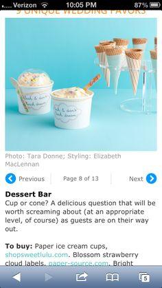 Dessert bar