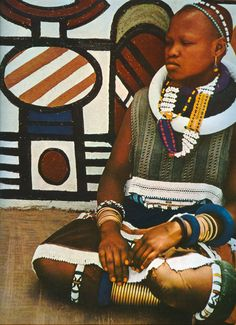 Ndebele Woman   Unfortunately no details provider as to where and who the photographer was.