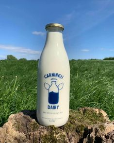 LOVE seeing our brand work on actual packaging, out there in the wilderness, being seen! Last month we have the pleasure of working with Carningli Dairy to reimagine their brand and develop brand guidelines so that the web wizards over at United Studios could build a fast, functional website that looks as good as it works!  Based in Newport, Pembrokeshire, Carningli Dairy is a family-run dairy farm who are now providing a cow to cup to door service, with these beautiful bottles!   #branding… Brand Guidelines, Coffee Bottle, Wizards, Newport, Wilderness, Starbucks, Cow, Bottles, Studios