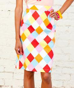 Loving this Pink Tutti-Frutti Pencil Skirt on #zulily! #zulilyfinds