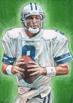 Dallas Cowboys QB Troy Aikmen by Jason Davies Dallas Cowboys Tattoo, Dallas Cowboys Quotes, Dallas Cowboys Players, Cowboys 4, Nfl Football Players, Nfl Football Teams, Rugby Images, Cowboy Artwork, Cowboy History