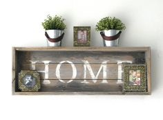 HOME Shadow Box Shelf in Reclaimed Natural by DougAndCristyDesigns