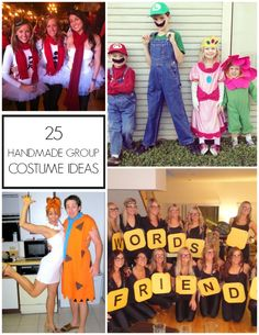 Tons of great DIY group Halloween costume ideas!