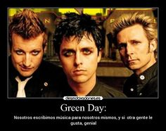 carteles green day mike dirnt billie joe tre cool desmotivaciones