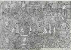 Garber, Johann; Der Herbst, 1993, ink on paper, 43,5x62,5 cm, SH967