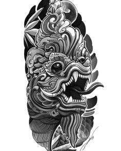 Khmer Tattoo, Thai Tattoo, Yakuza Tattoo, Tattoo Ribs, Body Art Tattoos, Cool Tattoos, Foo Dog Tattoo, Doodle Tattoo, Mask Tattoo