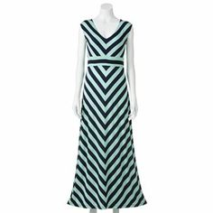 Apt. 9 Striped Maxi Dress - I like this and the blue