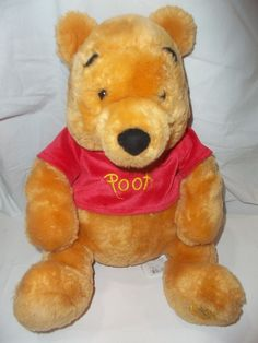 Authentic Disney Store Winnie the Pooh Bear Stuffed Animal Plush Doll