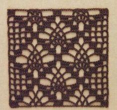 :: Crochet in points - Schemes - Graphics Crochet Square Blanket, Granny Square Crochet Pattern, Crochet Blocks, Crochet Flower Patterns, Crochet Diagram, Crochet Stitches Patterns, Crochet Squares, Crochet Motif, Crochet Shawl