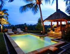 Pool at our villa in Ubud, Bali