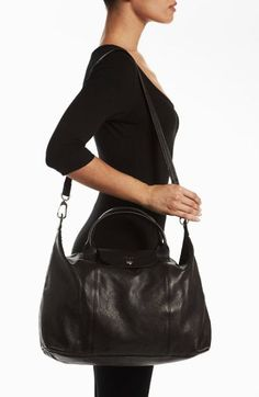 Reliable online store for Longchamp bag le New collectionSuper Cheap! Longchamp Backpack, Outfits For Teens, Teens Clothes, Longchamp Black, Black Leather Handbags, Replica Handbags, Large Tote, Leather Material, Style Icons