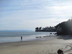 On a beach in Santa Cruz, CA.